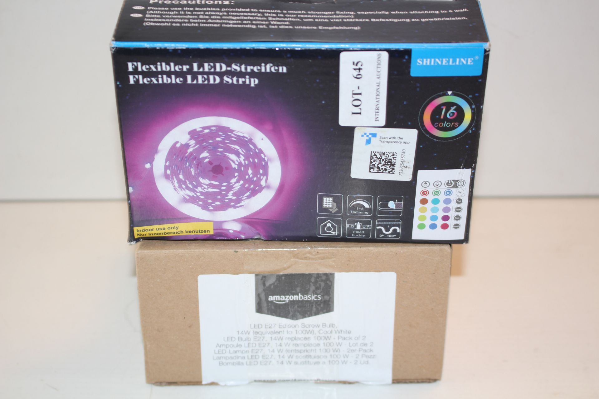 X2 BOXED ITEMS INCLUDING LED EDISON SCREW BULB AND LED STRIPCondition ReportAppraisal Available on
