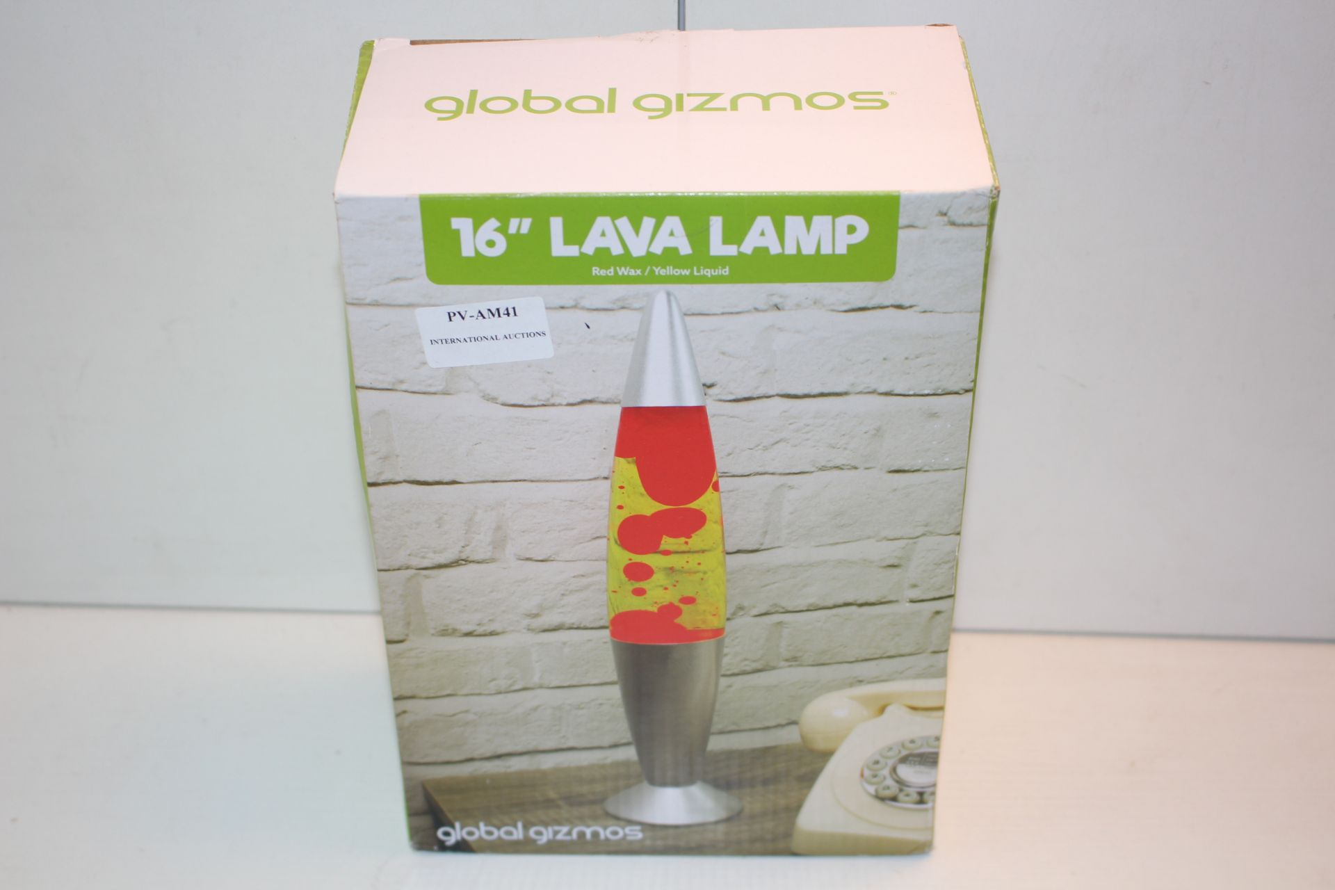 BOXED 16 INCH LAVA LAMP Condition ReportAppraisal Available on Request- All Items are Unchecked/