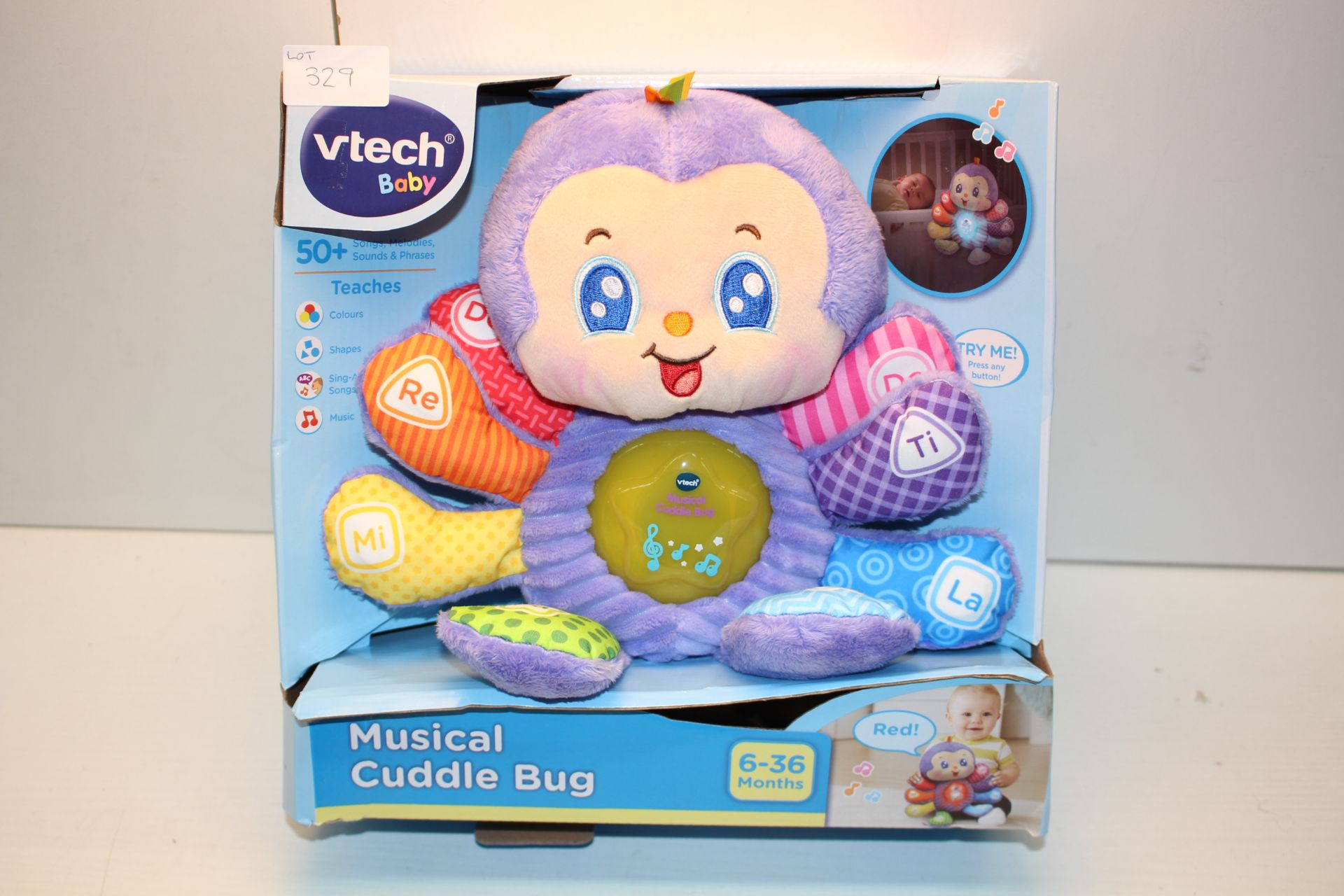 BOXED VTECH BABY MUSICAL CUDDLE BUG Condition ReportAppraisal Available on Request- All Items are