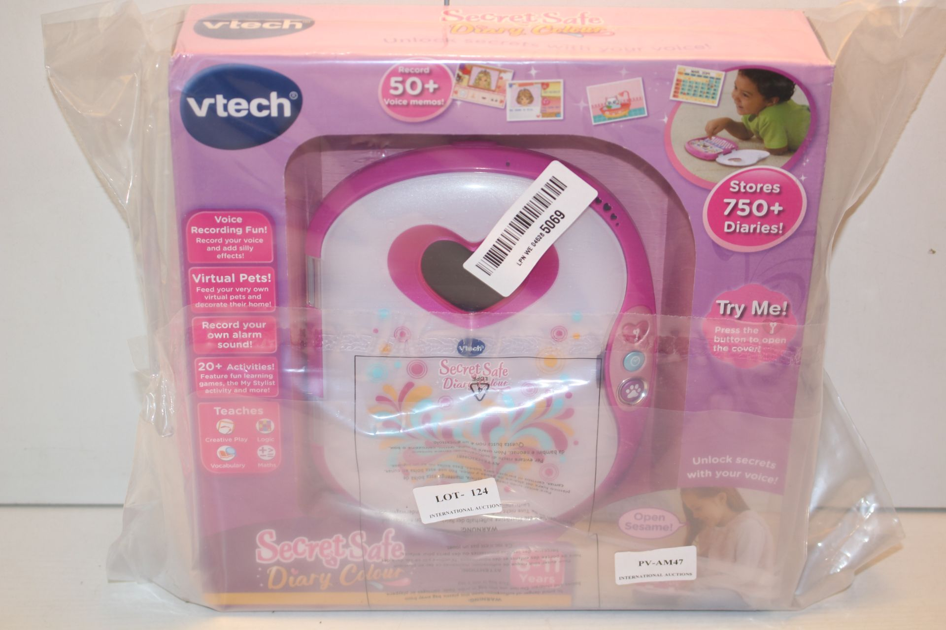 BOXED VTECH SECRETS SAFE DIARY COLOUR RRP £37.99Condition ReportAppraisal Available on Request-