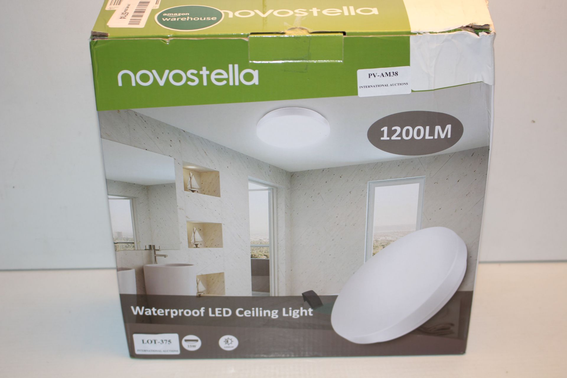 BOXED NOVOSTELLA 1200LM WATERPROOF LED CEILING LIGHT Condition ReportAppraisal Available on Request-