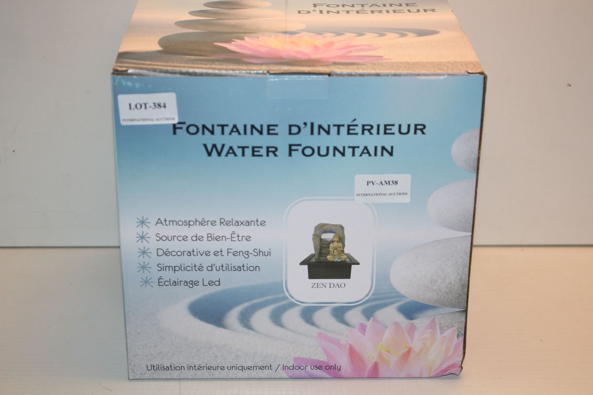 BOXED FONTAINE D'INTERIEUR ATMOSPHERE RELAXANTE ZEN DAO Condition ReportAppraisal Available on