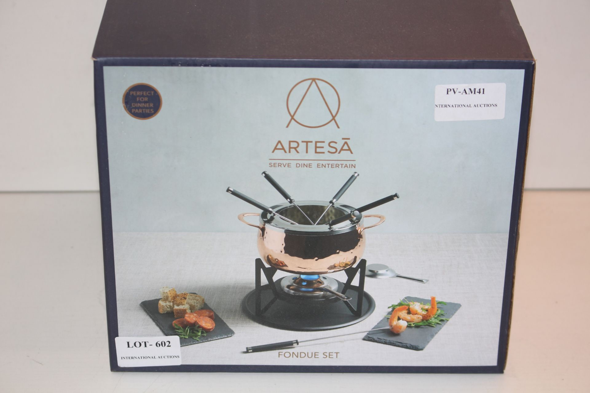 BOXED ARTESA FONDUE SETCondition ReportAppraisal Available on Request- All Items are Unchecked/
