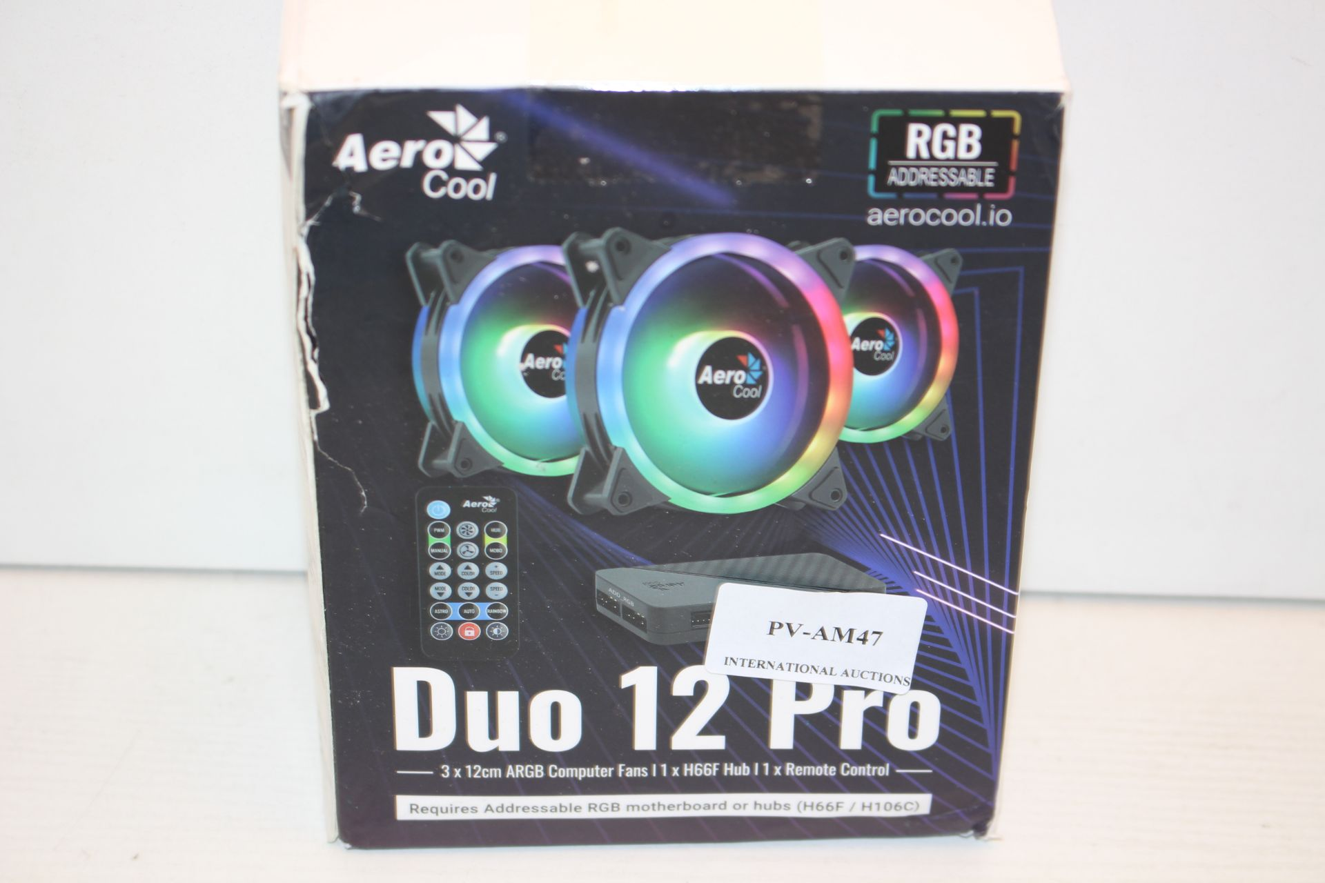 BOXED AERO COOL DUO 12 PRO LED FAN TRIPLE PACK RRP £26.99Condition ReportAppraisal Available on