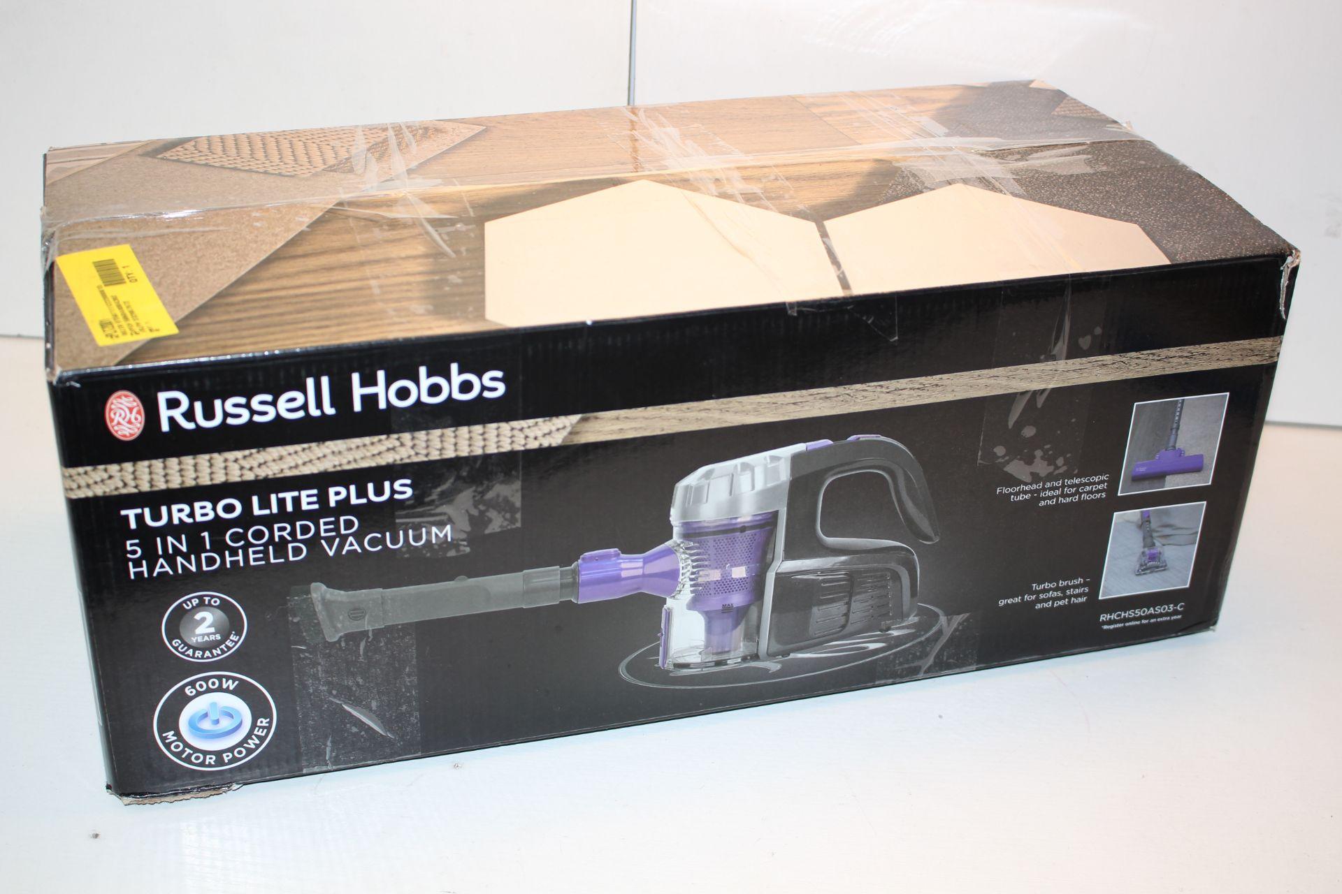 BOXED RUSSELL HOBBS TURBO LITE PLUS 5-IN-1 CORDED HANDHELD VACUUM MODEL: RHCHS50ASO3-C RRP £59.