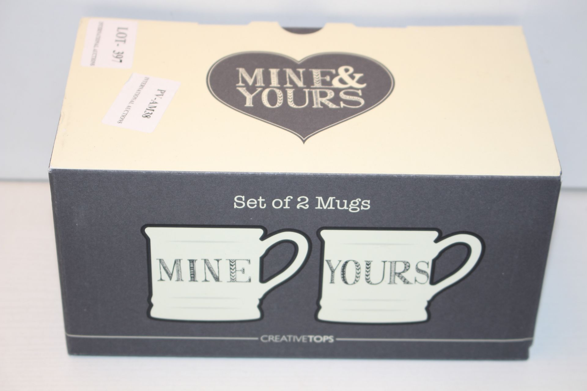 BOXED MINE - YOURS SET OF TWO MUGS Condition ReportAppraisal Available on Request- All Items are