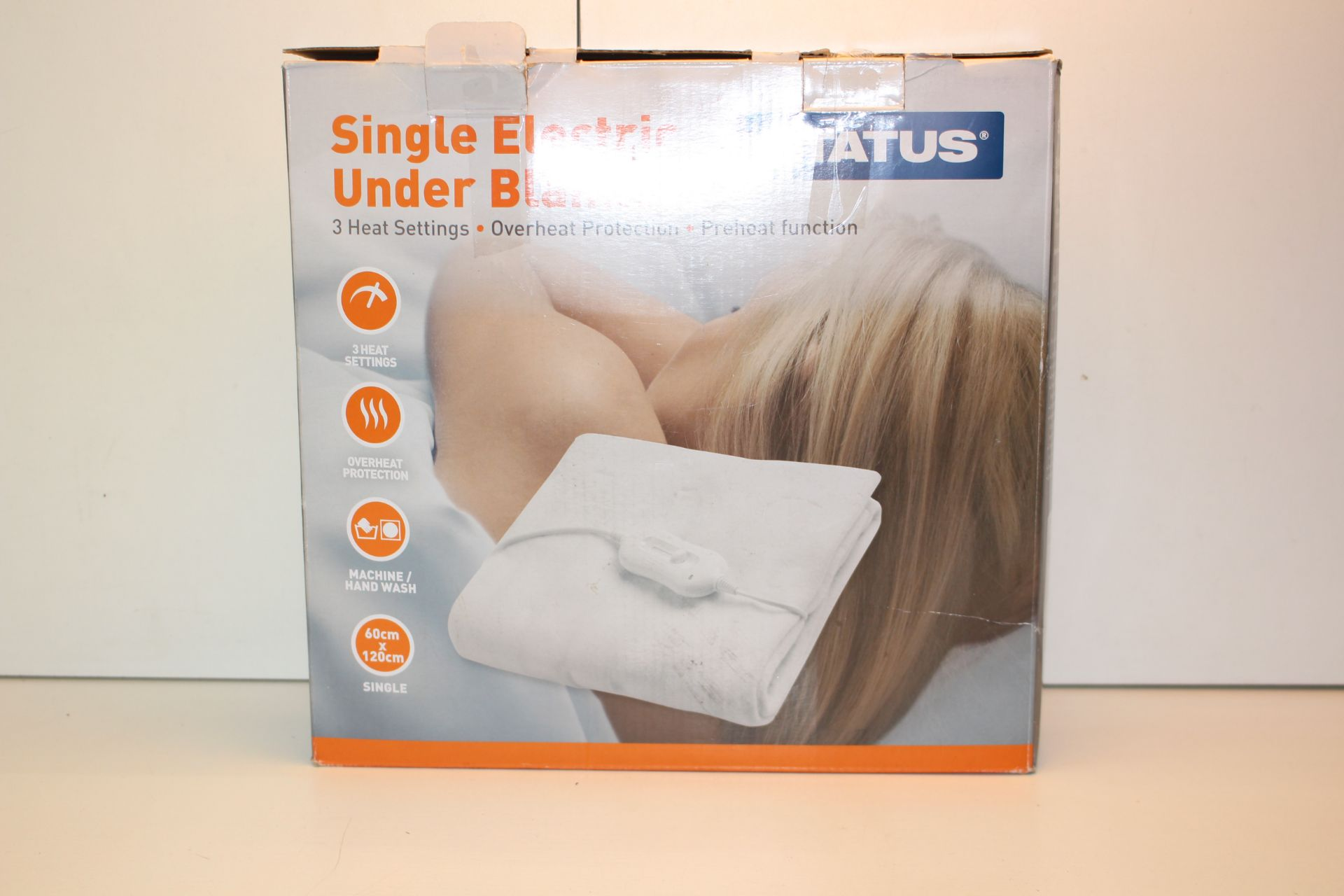 BOXED STATUS SINGLE ELECTRIC BLANKETCondition ReportAppraisal Available on Request- All Items are