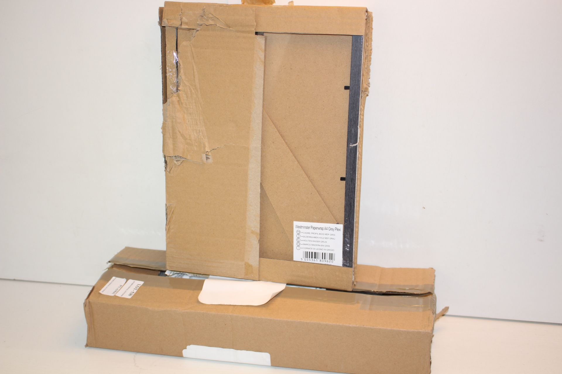 X2 BOXED ITEMS INCLUDING PICTURE FRAME AND SHELFS Condition ReportAppraisal Available on Request-