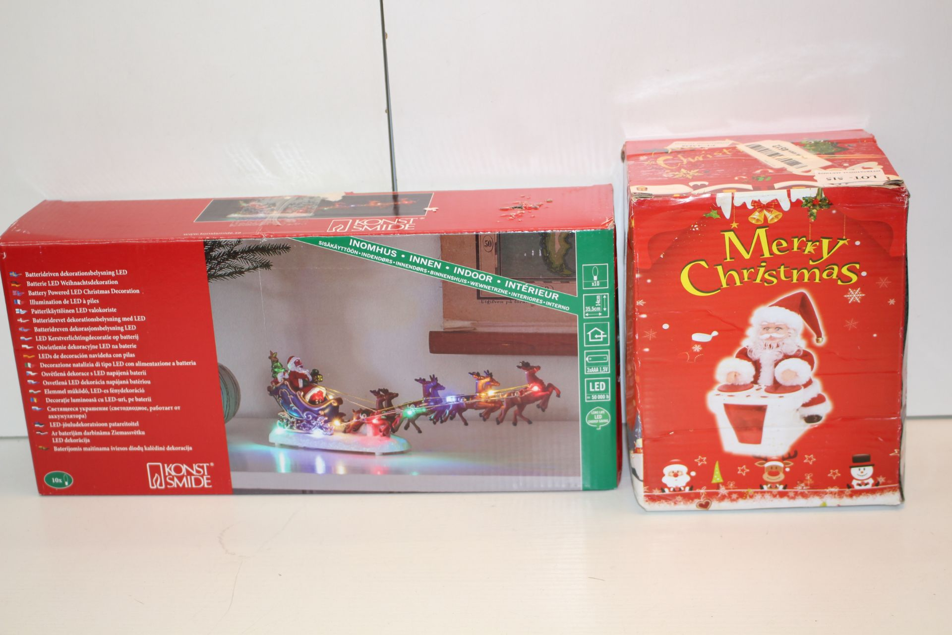 X2 BOXED CHRISTMAS DECORATIONS Condition ReportAppraisal Available on Request- All Items are