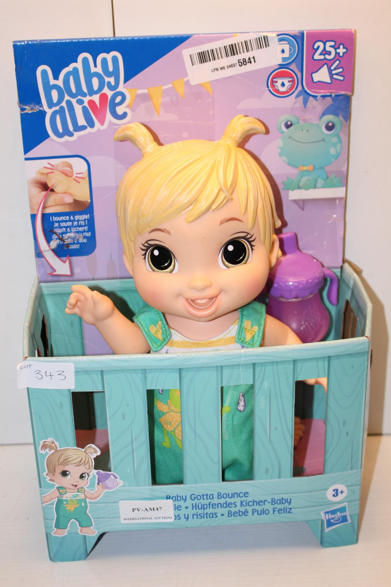 BOXED BABY ALIVE - BABY GOTTA BOUNCE TOYCondition ReportAppraisal Available on Request- All Items