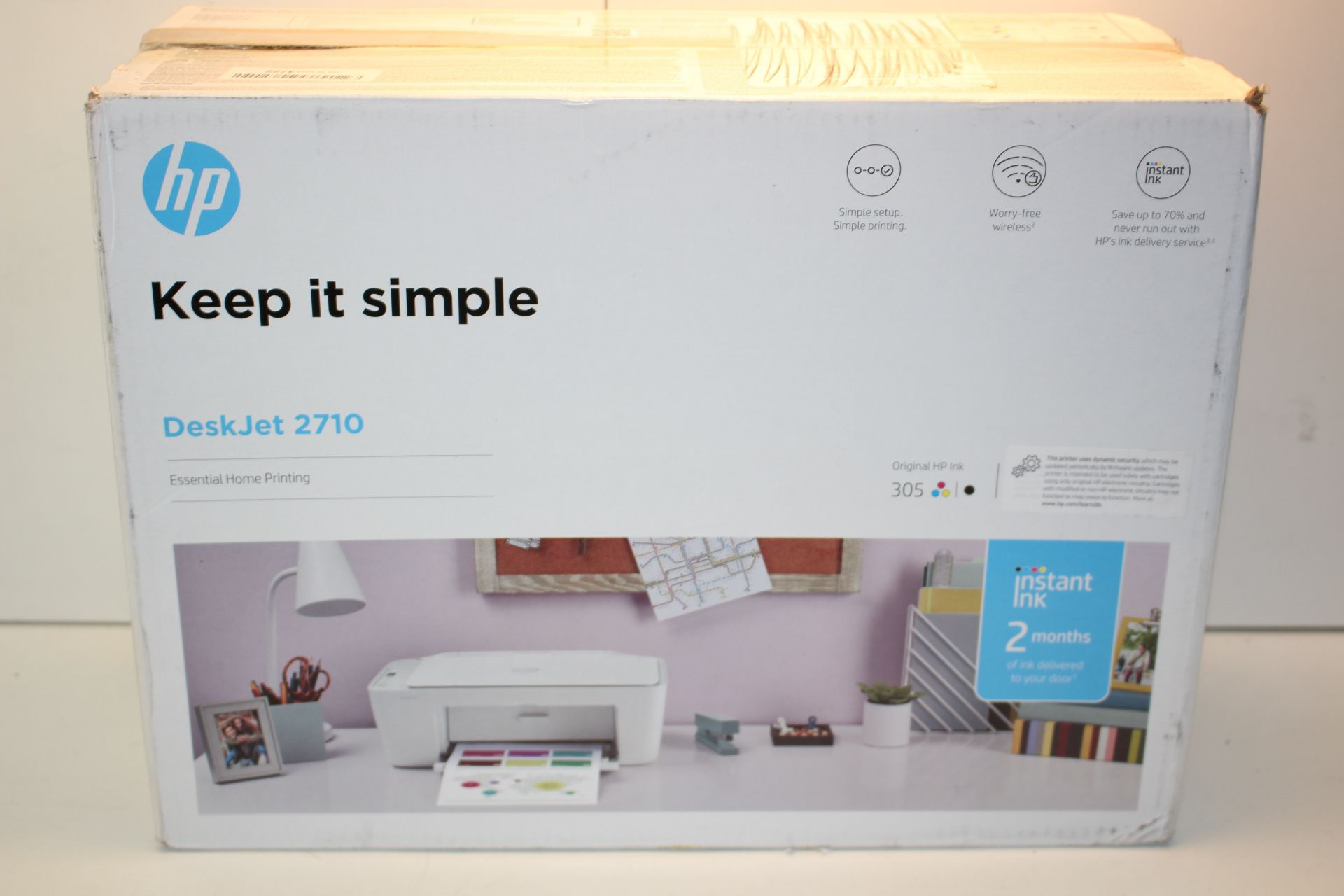 BOXED HP DESKJET 2710 ESSENTIAL HOME PRINTING RRP £64.99Condition ReportAppraisal Available on