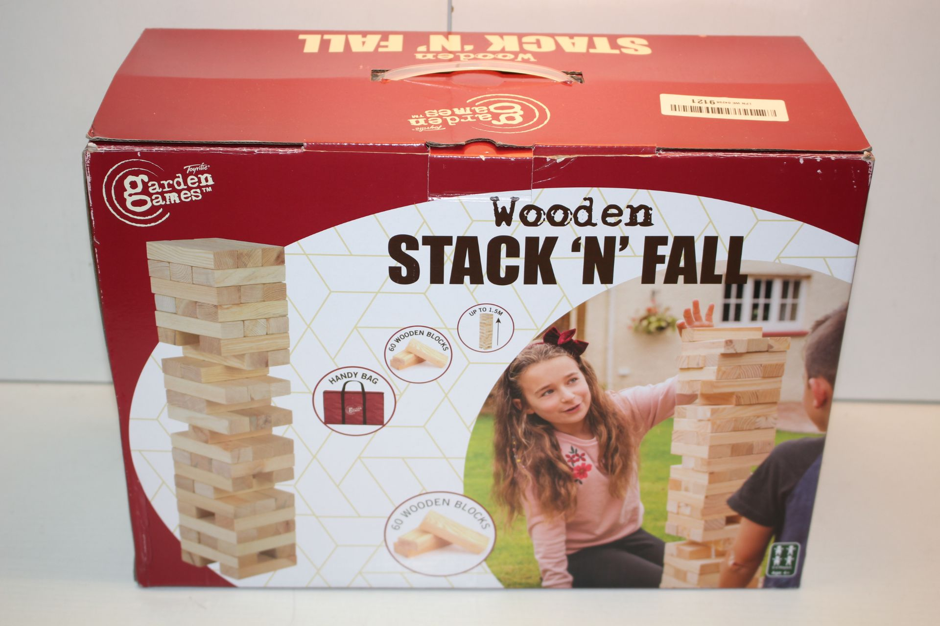 BOXED GARDEN GAMES WOODEN STACK 'N' FALL Condition ReportAppraisal Available on Request- All Items