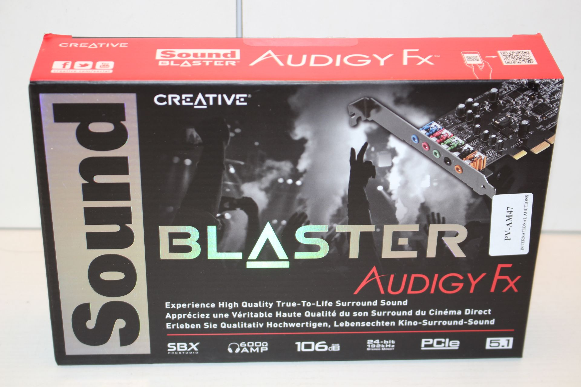 BOXED AUDIGY FX SOUND BLASTER Condition ReportAppraisal Available on Request- All Items are