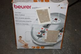 BOXED BEURER WELLBEING FOOT SPA MODEL: FB50 RRP £105.79Condition ReportAppraisal Available on