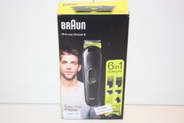 BOXED BRAUN ALL-IN-ONE TRIMMER 3 6-IN-1 STYLING KIT MGK3221 RRP £44.95Condition ReportAppraisal