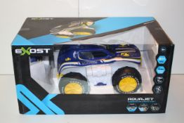 BOXED EXOST AQUA JET VEHICLE TRANSFORMS INTO A BOAT OR A 4X4 RRP £69.99Condition ReportAppraisal