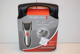 BOXED REMINGTON TITANIUM HAIR CLIPPER RRP £53.31Condition ReportAppraisal Available on Request-