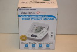 BOXED FULLY AUTOMATIC ARM STYLE BLOOD PRESSURE MONITOR RRP £20.99Condition ReportAppraisal Available