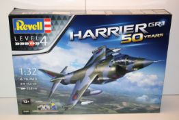 BOXED REVELL LEVEL 4 1:32 SCALE HARRIER GR.1 50 YEARS 05690 RRP £23.95Condition ReportAppraisal