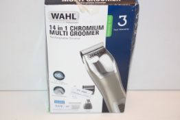 BOXED WAHL 14-IN-1 CHROMIUM MULTI GROOMER RECHARGEABLE TRIMMER RRP £29.99Condition ReportAppraisal