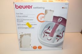 BOXED BEURER WELLBEING FOOT SPA MODEL: FB35 RRP £54.95Condition ReportAppraisal Available on