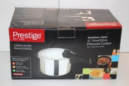 BOXED PRESTIGE STAINLESS STEEL 4L SMARTPLUS PRESSURE COOKER RRP £50.00Condition ReportAppraisal