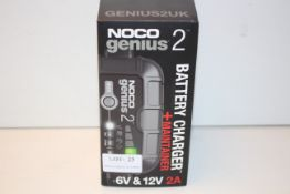 BOXED NOCO GENIUS 2 BATTERY CHARGER + MAINTAINER 6V & 12V 2A RRP £47.92Condition ReportAppraisal