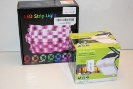 2X BOXED ASSORTED ITEMS TO INCLUDE LED STRIP LIGHTS & OTHER (IMAGE DEPICTS STOCK)Condition