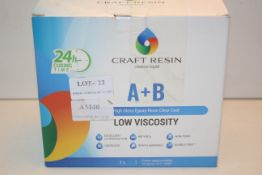 BOXED CRAFT RESIN CREATIVE LIQUID A+B LOW VISCOSITY 1LITRE RRP £36.99Condition ReportAppraisal