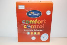 BOXED SILENTNIGHT COMFORT CONTROL ELECTRIC BLANKET SINGLE RRP £29.99Condition ReportAppraisal