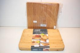2X SOLID WOOD CHOPPING BOARDS BY JOSEPH JOSEPH & OTHER (IMAGE DEPICTS STOCK)Condition