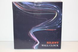 BOXED SILENT WALL CLOCK Condition ReportAppraisal Available on Request- All Items are Unchecked/