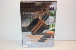 BOXED TOWER DAMASCUS ROSE GOLD EDITION 5 PIECE KNIFE SET RRP £29.99Condition ReportAppraisal