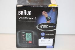 BOXED BRAUN VITALSCAN 3 WRIST BLOOD PRESSURE MONITOR Condition ReportAppraisal Available on Request-