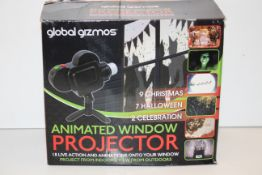 BOXED GLOBAL GIZMOS ANIMATED WINDOW PROJECTOR RRP £18.99Condition ReportAppraisal Available on