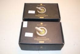 2X BOXED MASTERCLASS PESTLE & MORTAR COMBINED RRP £38.00Condition ReportAppraisal Available on