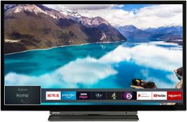 BOXED TOSHIBA 24WL3A63DB 24inch SMART LED TV, INCLUDES REMOTE AND STAND, NOT IN THE ORIGANAL BOX