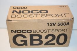 BOXED NOCO BOOST GB20 LITHIUM JUMP STARTER 12V 500A RRP £74.24Condition ReportAppraisal Available on