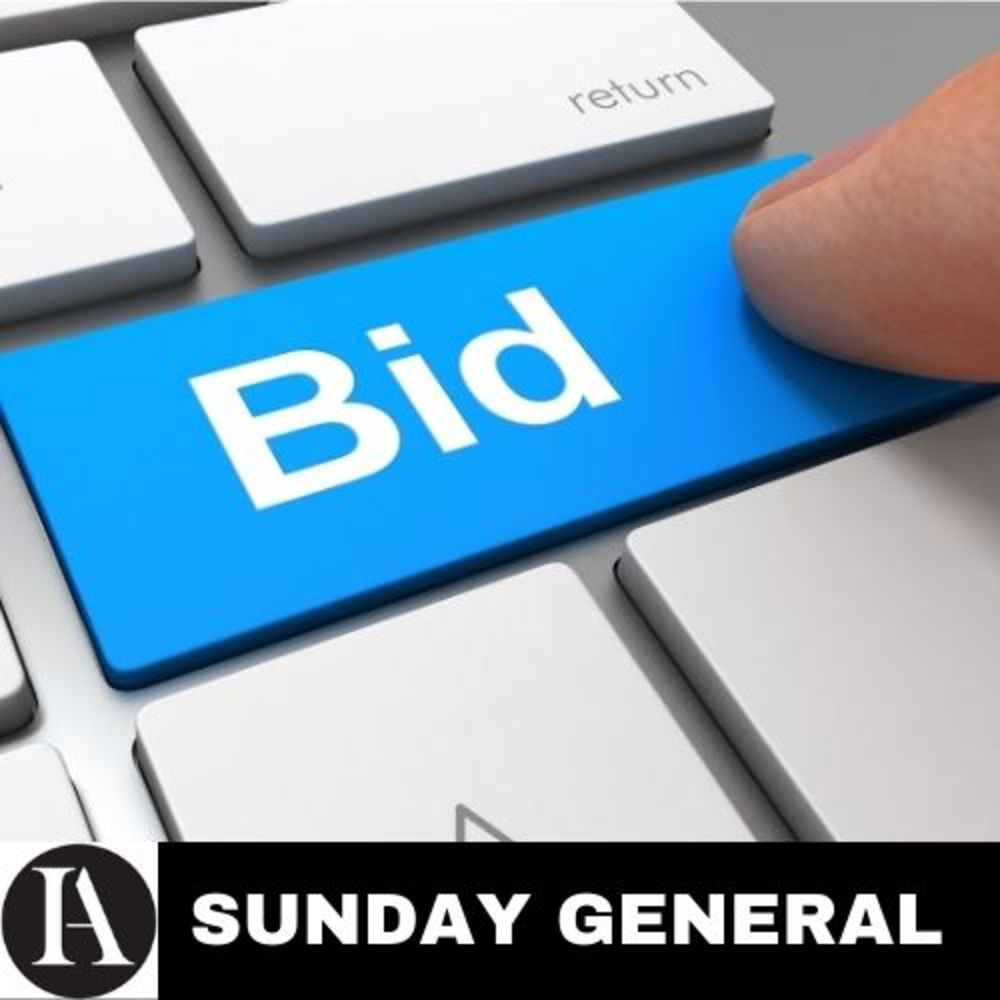 Every Sunday, No Reserve Sale! General Sale, Household, Personal, Kitchen, PC, Toys, Sports, Automotive & Many More Fantastic Products!
