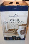 BOXED SNUGGLEDOWN ULTIMATE HUNGARIAN GOOSE DOWN DUVET KING 10.5 RRP £179.00Condition ReportAppraisal