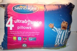 BAGGED 4PACK SILENTNIGHT ULTRA BOUNCE PILLOWS RRP £19.99Condition ReportAppraisal Available on
