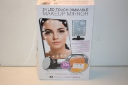 BOXED 24 LED TOUCH DIMMABLE MAKE UP MIRRORCondition ReportAppraisal Available on Request- All
