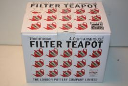 BOXED LONDON POTTERY TRADITIONAL 4-CUP FARMHOUSE FILTER TEAPOT RRP £25.00Condition ReportAppraisal