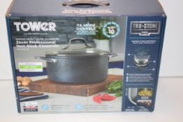 BOXED TOWER FORGED HEAVY GAUGE ALUMINIUM 24CM PROFESSIONAL NON-STICK CASSEROLE RRP £34.77Condition