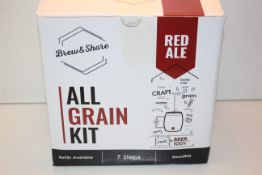 BOXED BREW & SHARE ALL GRAIN KIT RED ALE RRP £18.99Condition ReportAppraisal Available on Request-