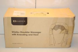 BOXED MARNUR SHIATSU SHOULDER MASSAGER WITH KNEADING AND HEAT RRP £39.99Condition ReportAppraisal