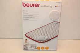 BOXED BEURER WELLBEING HEAT PAD HK COMFORT COSY RRP £35.99Condition ReportAppraisal Available on