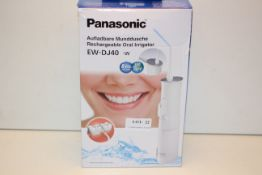 BOXED PANASONIC RECHARGEABLE ORAL IRRIGATOR MODEL: EW-DJ40-W RRP £39.99Condition ReportAppraisal
