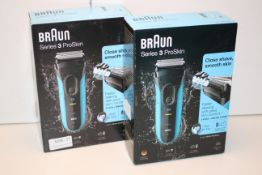 2X BOXED BRAUN SERIES 3 PROSKIN WET & DRY SHAVER MODEL: 3010S RRP £54.99 EACHCondition