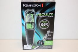 BOXED REMINGTON VACUUM BEARD & STUBBLE TRIMMER MODEL: MB6850 RRP £35.99Condition ReportAppraisal